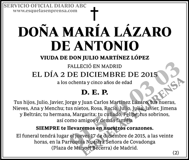 María Lázaro de Antonio